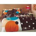 KPL.2. 3945 18708215 PERCALE GAME V-5 BROWN 200x220